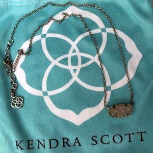 kendra scott elisa necklace in iridescent drusy